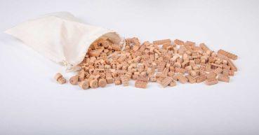 FabBrix BIO Klemmbausteine 300-tlg Holz - die ökologische Alternative