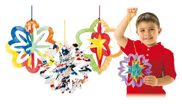 3D Sterne & Ornamente Bastelset 30-tlg.