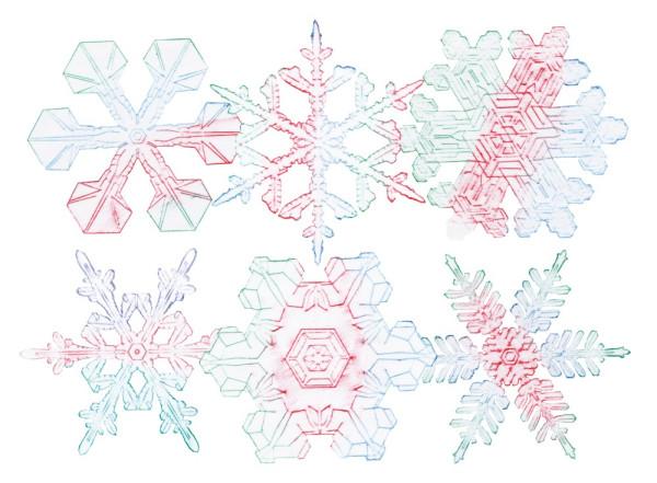 Rubbelplatten Schneeflocken - Eiskristalle 6-tlg.