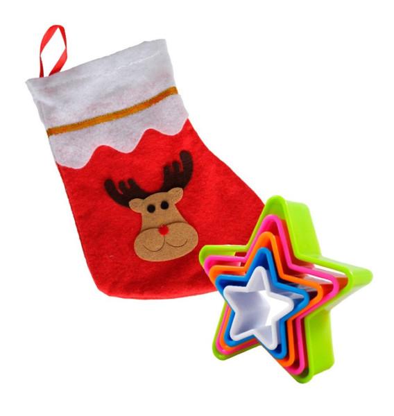 Weihnachtsset: Stiefel Elch + Ausstechformen