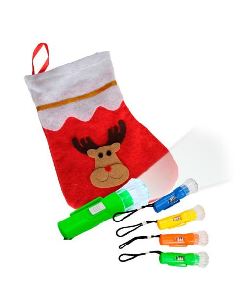 Weihnachtsset: Stiefel Elch + Taschenlampe