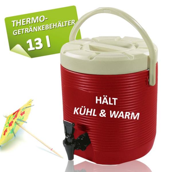 Getränkebehälter 13 L mit Auslaufhahn - kühlt oder wärmt
