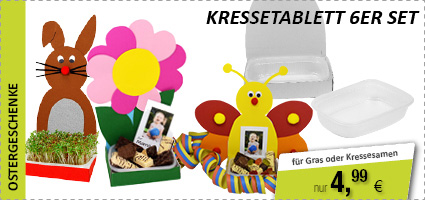 Kressetablett 6er Set - Osternest - Mutter- & Vatertag