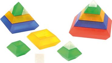 Triangle Puzzle transparent 15 Teile