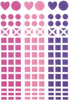 Mosaik-Sticker pink