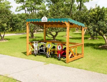 Outdoor Parkgarage - Spielhaus - Trike Port